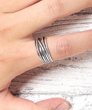シルバーランダムワインディングリング / 指輪 リング メンズ カップル ペア シルバー