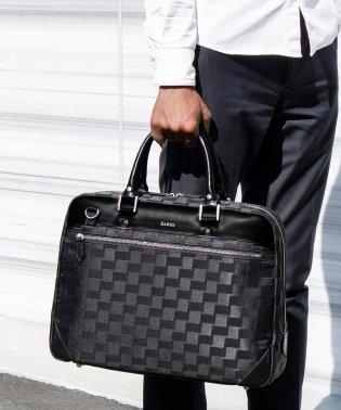 ビジネスバッグ メンズ ブリーフケース 牛革 レザー デザインナイロン 通勤鞄 A4 B4 2way ショルダー付き ZARIO