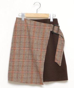 ラップ風台形スカート