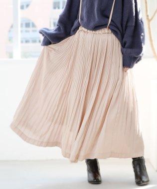 n'Orランダムプリーツサテンスカート