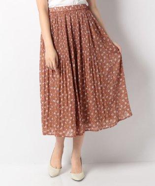 ドビーフラワープリントプリーツスカート