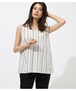 BACK RIBBON SLEEVELESS BLOUSE
