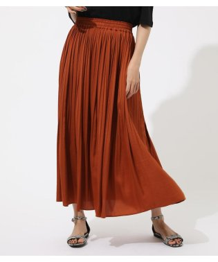 VINTAGE SATIN PLEATS SKIRT