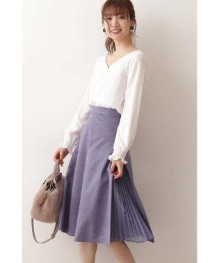◆フェイクスエードサイドプリーツスカート