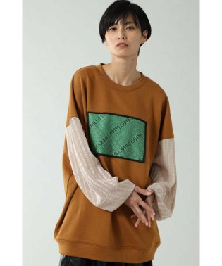 TULLE SLEEVE LOGO SWEAT
