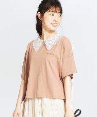 WEGO/シアー衿付き刺繍ロゴTシャツ