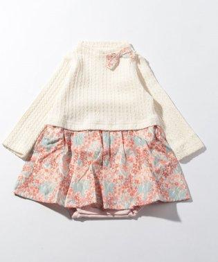 mountain primrose長袖スカート付ロンパース
