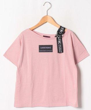 ワンショルダーBOXロゴTシャツ