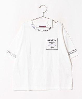 衿スリットロゴTシャツ