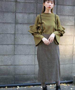 【KBF】WEB限定バッククロスハイウエストスカート