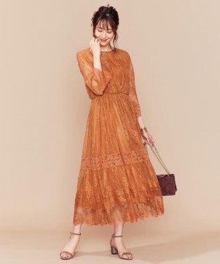 【新色追加!】総レースロング ドレス