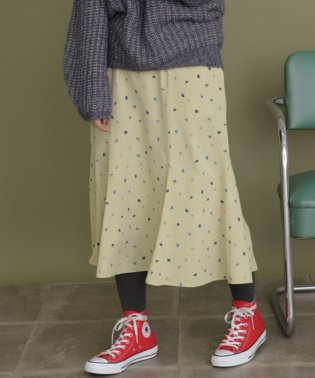 【KBF】ドット×フラワーマーメイドスカート