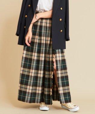 【予約】BY チェックラップマキシスカート