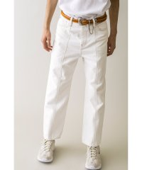 <monkey time> WHITE DENIM CENTER SEAM TROUSER/デニムパンツ