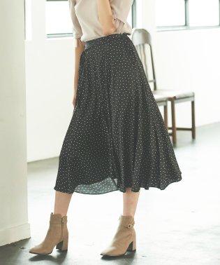 ドットサテンフィッシュテールスカート