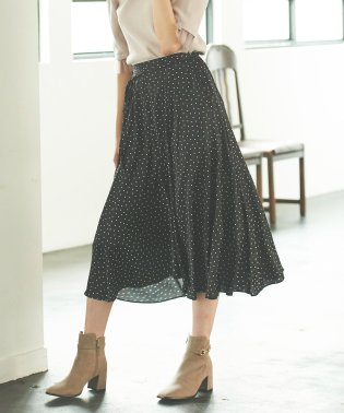 【sweet・美人百花10月号掲載】ドットサテンフィッシュテールスカート