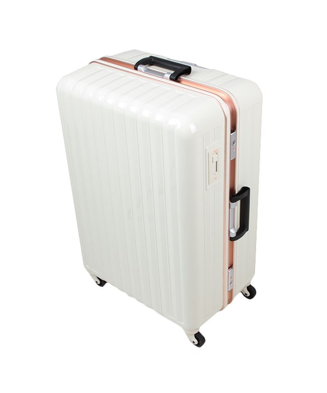 (BOUNDRIP/バウンドリップ)バウンドリップ スーツケース Lサイズ フレームタイプ ストッパー付き 軽量 大型 大容量 105L BD88/ユニセックス アイボリー