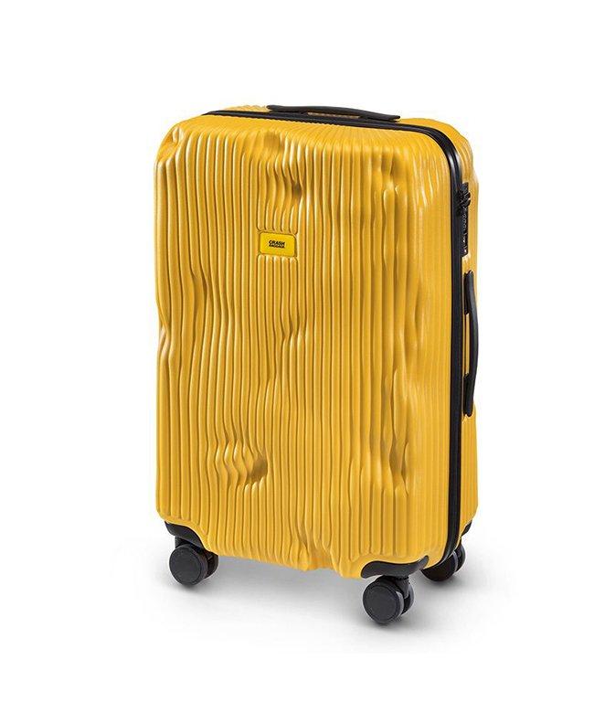 (CRASH BAGGAGE/クラッシュバゲージ)クラッシュバゲージ スーツケース Mサイズ 65L かわいい 軽量 CRASH BAGGAGE cb152/ユニセックス イエロー