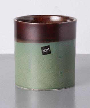 <J-LINE(ジェイ ライン)> フラワーポット GREEN L