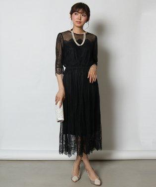 Rire Fete(リルフェテ) パールネックレスレースドレス
