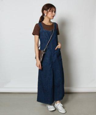 Vin(ウ゛ァン) フロントジップデニムジャンパースカート