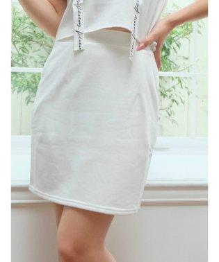 裏毛ミディタイトスカート