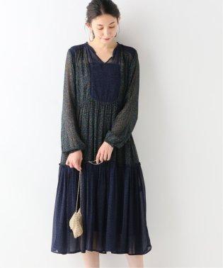 【ne Quittez pas/ヌキテパ】レーヨンフラワーMIX ギャザードレス