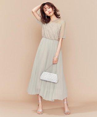 【PRIER】ヨーク切り替えプリーツワンピース ドレス