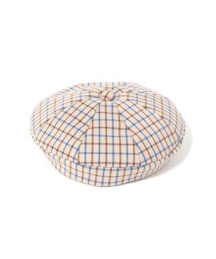 Ray BEAMS / エイト パネル チェック ベレー帽