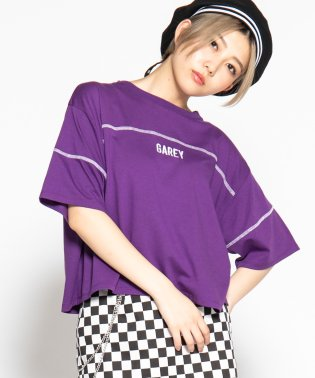 WEGO/配色ステッチワイドロゴTシャツ