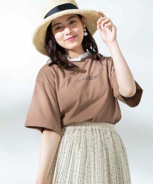 WEGO/フリルネックロゴTシャツ