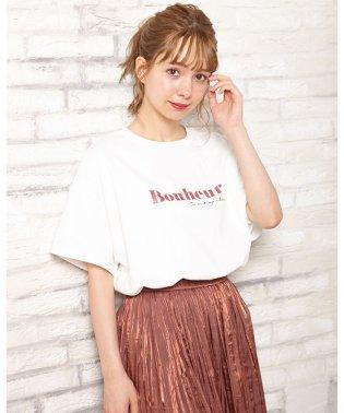 ラメロゴTシャツ