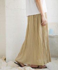 プリーツイージーロングスカート