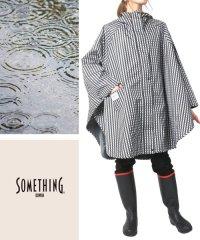 【SOMETHING EDWIN】 サムシング エドウィン レイン ポンチョ 雨具 雨合羽 カッパ
