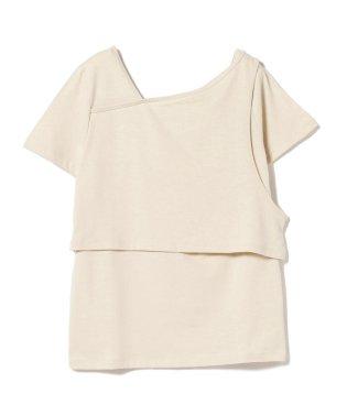 Ray BEAMS / アシンメトリー レイヤード Tシャツ