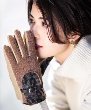 【タッチパネル対応】レオパード手袋