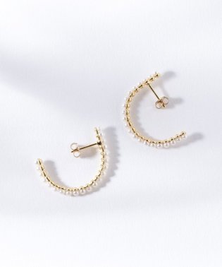 jour couture / パール フープピアス
