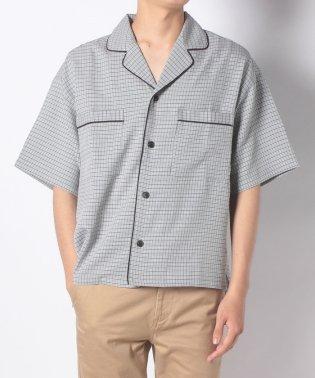 チェックパジャマショートスリーブシャツ