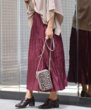 【socolla】サテンワッシャープリーツスカート