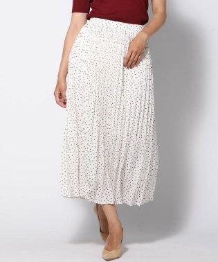 【大きいサイズ】ヨットプリントプリーツスカート