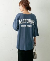 Backロゴ七分袖ルーズTシャツ
