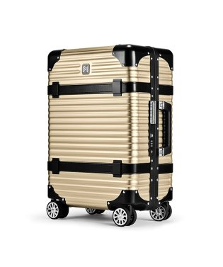 ランツォ スーツケース 機内持ち込み LANZZO VIKING 33L Sサイズ バイキング アルミフレーム アルミボディ 革ベルト