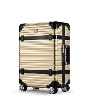 ランツォ スーツケース LANZZO VIKING 47L Mサイズ バイキング アルミフレーム アルミボディ 革ベルト