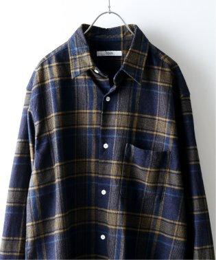 【19FW】インディゴチェック レギュラーシャツ