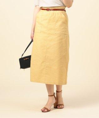 ベルト付きタイトスカート