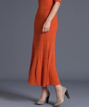《YVON》ニットフレアロングスカート