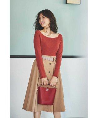 |美人百花 10月号掲載|ブラッシュユニオンテックツイルフレアースカート