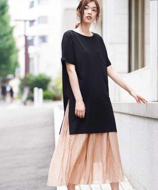 【2点セット】ジャージチュニック×プリーツスカート