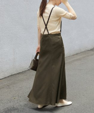 【WEB限定】ツイルサロペットスカート