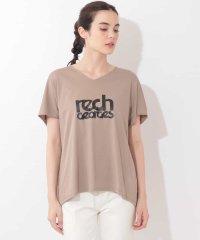 【洗濯機OK】VネックロゴTシャツ